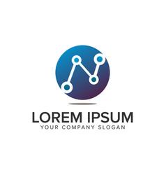 Dot chart business logo design concept template vector