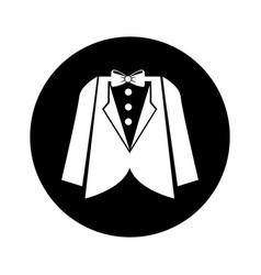 Elegant masculine dress icon vector