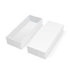 Empty rectangular box mock up with lid vector