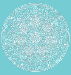Entangle round colored floral vector
