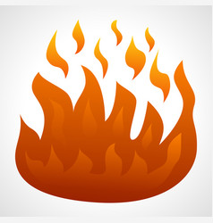 fire flame isolated on white background vector image