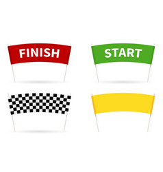 flag start finish for competition vector image