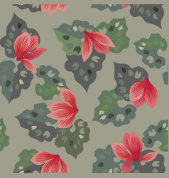 floral seamless pattern of cyclamen flowers vector image