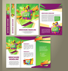 Flyer for sales promotion brochure vector