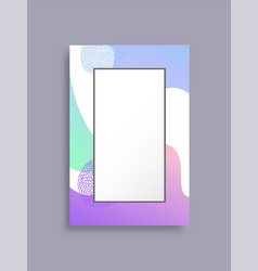 frame banner with abstract background place text vector image