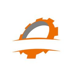 gear template icon vector image