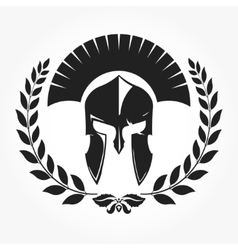 Gladiator knight icon with laurel wreath vector