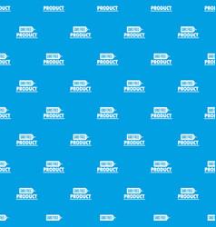 Gmo free badge pattern seamless blue vector