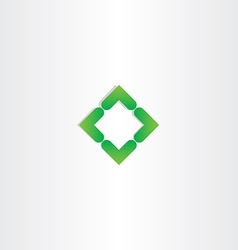 green gradient square business logo design vector image