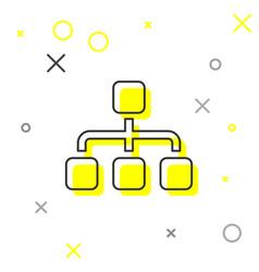 Grey business hierarchy organogram chart vector