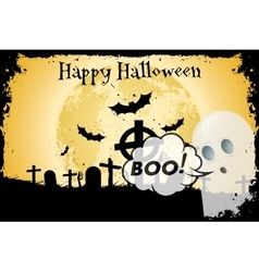 Grungy Halloween Background with Bats vector