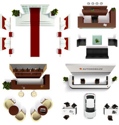 Hall Interior Elements Set vector