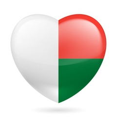 Heart icon of Madagascar vector
