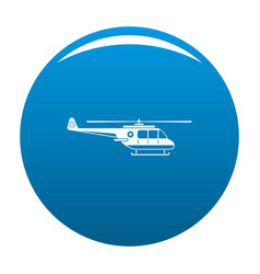 Helicopter icon blue vector