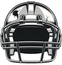 Helmet for playing football vector
