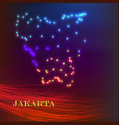 High quality map of jakarta is a city vector