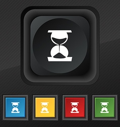Hourglass icon symbol Set of five colorful stylish vector