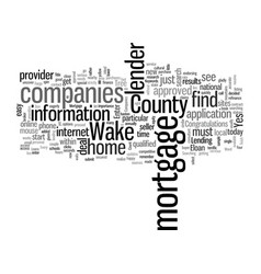 How to find wake county mortgage companies vector