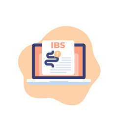 Ibs or irritable bowel syndrome icon vector
