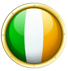 Ireland flag on round icon vector