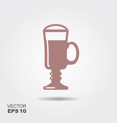 irish coffee cocktail icon vector image