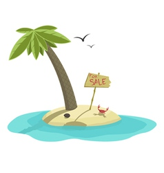 Island For Sale vector image