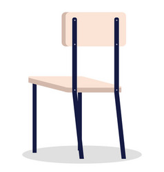 Isolated armchair with back at white background vector