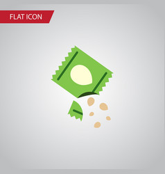 isolated seed flat icon packet element can vector image