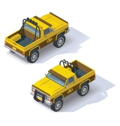 isometric pickup vector image