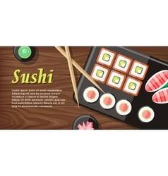 Japanese Food web Banner Japan Sushi vector
