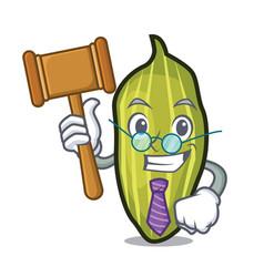 Judge cardamom mascot cartoon style vector