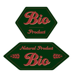 label bio product vector image