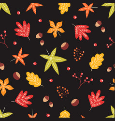 leaf pattern color warm autumn vector image