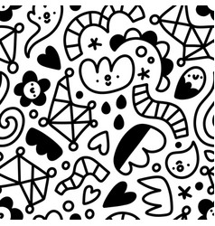 let me doodle it for you abstract shapes pattern vector image