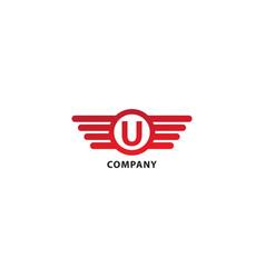 Letter u initial abjad logo design template vector