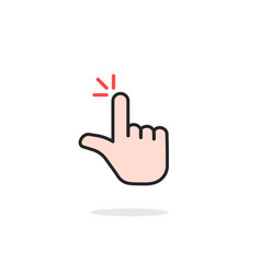 linear double click icon with pointer hand vector image