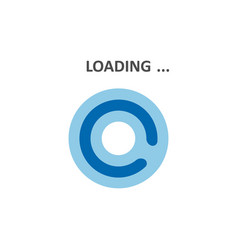 Loading icons white background vector