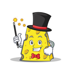 Magician cheese character cartoon style vector
