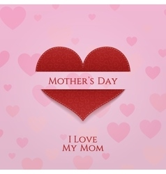 Mothers Day Banner Template with Heart vector