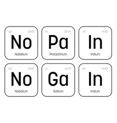 No pain no gain chemical label vector