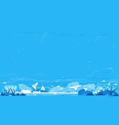 ocean bottom nature background vector image