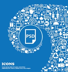 PSD Icon Nice set of beautiful icons twisted vector image