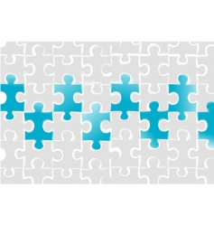 puzzle business card vector image