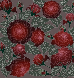 Roses floral pattern vector image