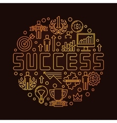 Round success linear symbol vector image