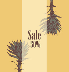 sale flyer plant hand-drawn vector image