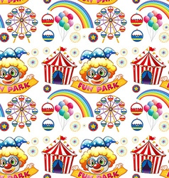 Seamless clowns and circus vector