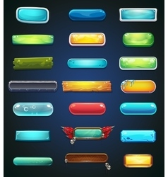 Set of multi-colored buttons for the web site or vector image