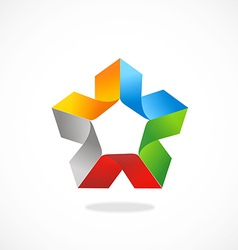 shape abstract colorful business logo vector image