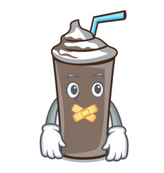 Silent ice chocolate mascot cartoon vector